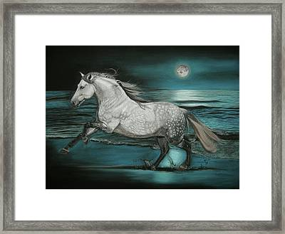 Moonlight Dancer Framed Print by Sabine Lackner