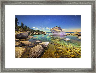 Moonlight Dip Framed Print by Steve Baranek
