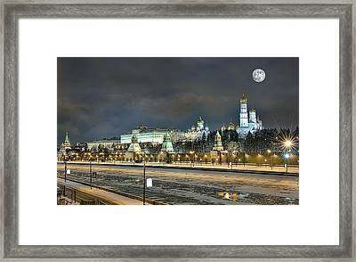 Framed Print featuring the photograph Moonlight Evening by Gouzel -