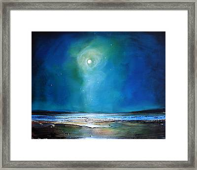 Moonlight Flyby Framed Print by Toni Grote