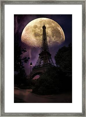 Moonlight In Paris Framed Print