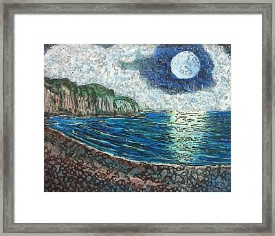 Moonlight In Pourvill Framed Print