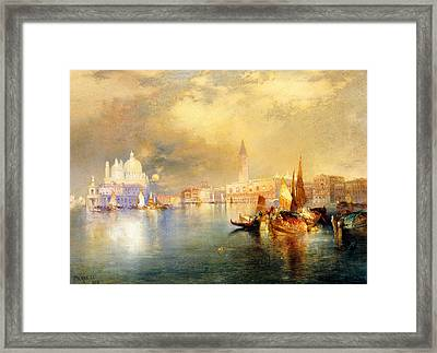Moonlight In Venice Framed Print by Thomas Moran