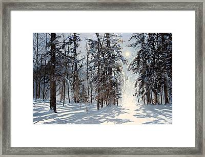 moonlight in Vermont Framed Print by Ken Ahlering