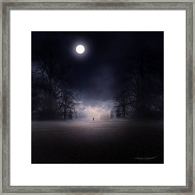 Moonlight Journey Framed Print by Lourry Legarde