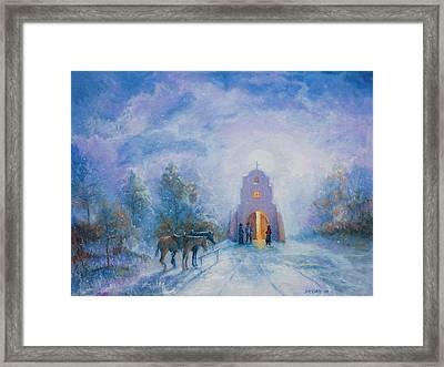 Moonlight Mass Framed Print by Jerry McElroy