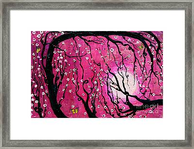 Framed Print featuring the mixed media Moonlight Melody by Natalie Briney