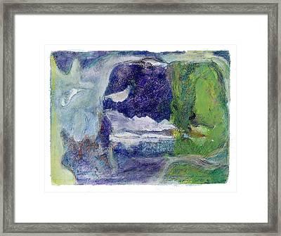 Moonlight Mountain Framed Print