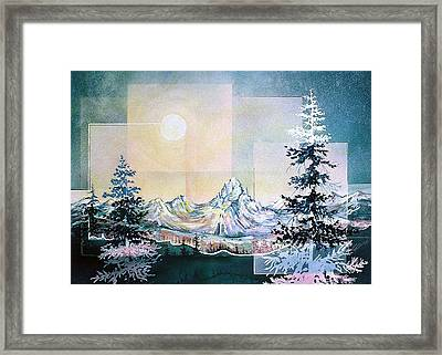 Moonlight Mountain Framed Print