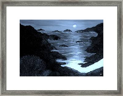Moonlight On The Coast Framed Print by Sherri's - Of Palm Springs