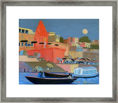 Moonlight On The Ghats Framed Print