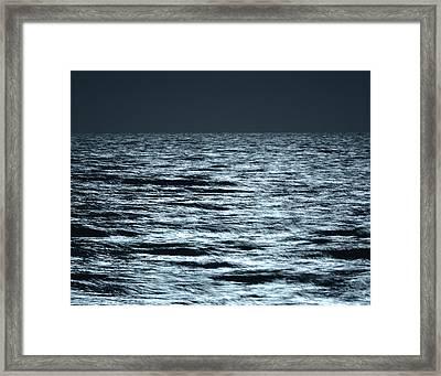 Moonlight On The Ocean Framed Print by Nancy Landry