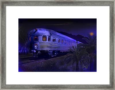Moonlight On The Sante Fe Chief Framed Print