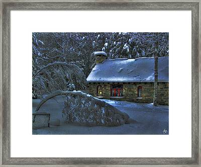 Moonlight On The Stonehouse Framed Print