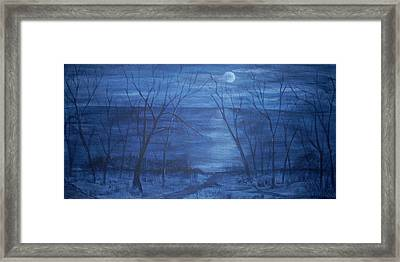 Moonlight On The Water Framed Print by Nora Niles