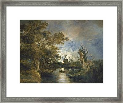 Moonlight On The Yare Framed Print