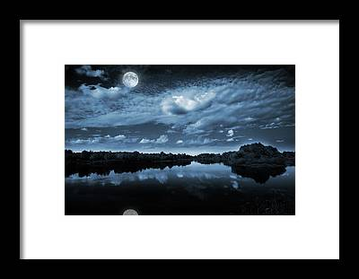 Darkness Framed Prints