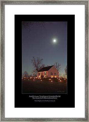 Moonlight Over Dunker Church 96 Framed Print by Judi Quelland