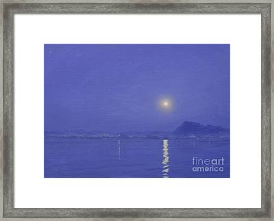 Moonlight Over Udaipur Framed Print