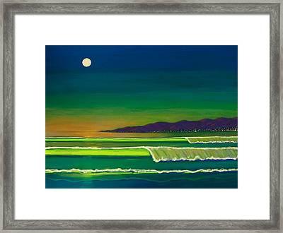 Moonlight Over Venice Beach Framed Print
