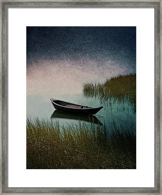 Moonlight Paddle Framed Print