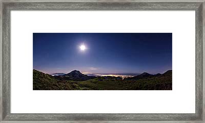 Moonlight Panorama Framed Print