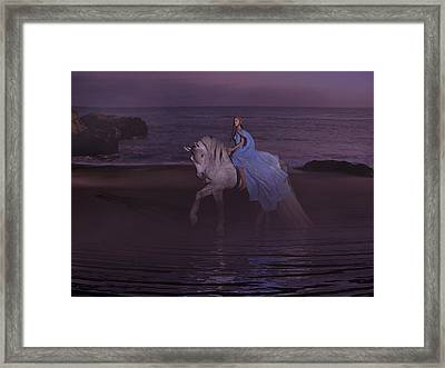 Moonlight Paradise Framed Print by Betsy Knapp