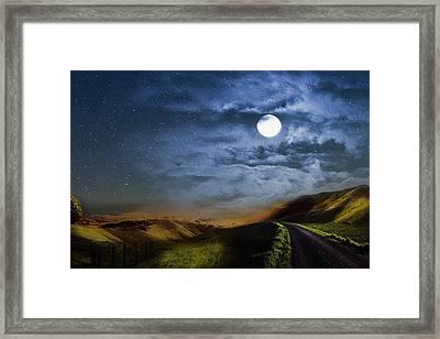 Moonlight Path Framed Print
