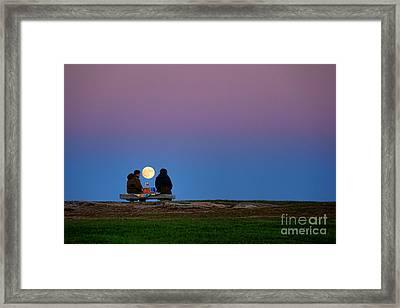 Moonlight Picnic Framed Print