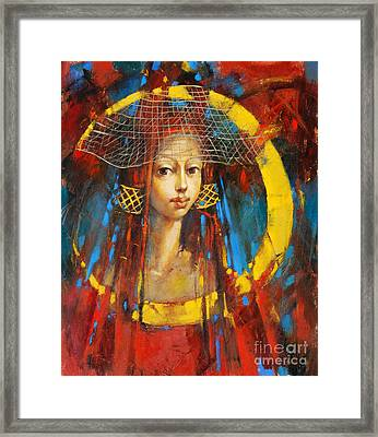 Moonlight Princess Framed Print by Michal Kwarciak