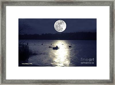 Moonlight Row Framed Print