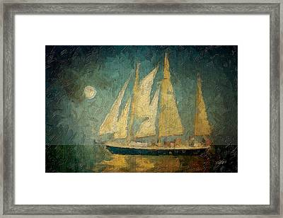 Moonlight Sail Framed Print by Michael Petrizzo