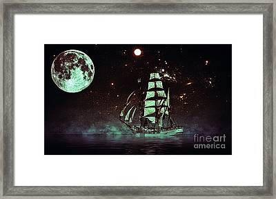 Moonlight Sailing Framed Print by Blair Stuart