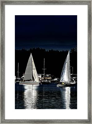 Framed Print featuring the photograph Moonlight Sailing by David Patterson