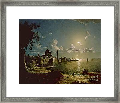 Moonlight Scene Framed Print by Sebastian Pether