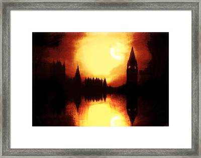 Framed Print featuring the digital art Moonlight-sonata  by Fine Art By Andrew David