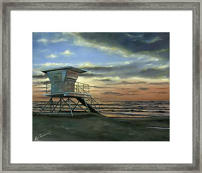 Moonlight Sunset Framed Print