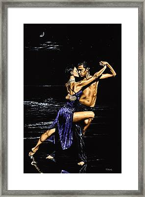 Moonlight Tango Framed Print by Richard Young
