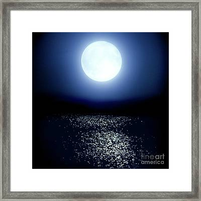 Framed Print featuring the photograph Moonlight by Tatsuya Atarashi