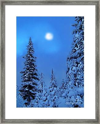 Moonlight  Through The Twilight Haze Framed Print