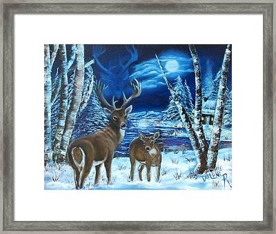 Moonlight Walk Framed Print by Darlene Green