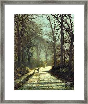 Moonlight Walk Framed Print by John Atkinson Grimshaw
