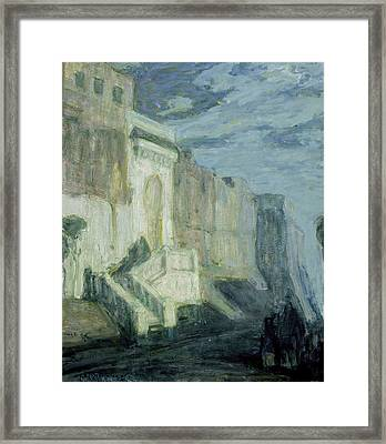 Moonlight - Walls Of Tangiers Framed Print by Henry Ossawa Tanner