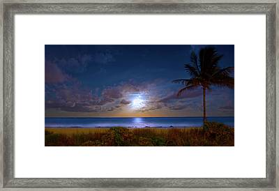 Moonlight Waves Framed Print