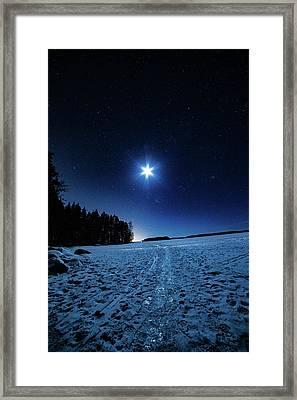Moonlight Way Framed Print