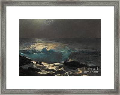 Moonlight, Wood Island Light, 1894 Framed Print