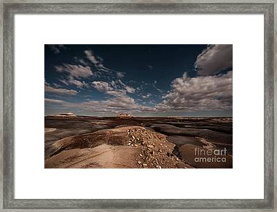 Moonlit Badlands Framed Print by Melany Sarafis