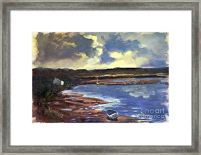 Moonlit Beach Framed Print
