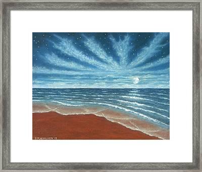 Moonlit Beach Framed Print