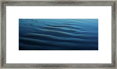 Moonlit Beach Morro Bay Ca Framed Print